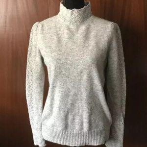 Cynthia Rowley Gray Mock Neck Sweater Large